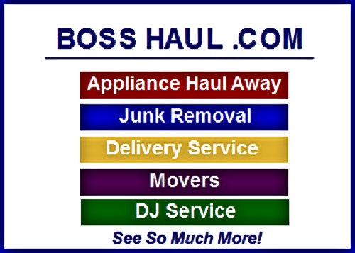 Movers, Junk Removal, Delivery Service, Appliance Haul Away, DJ Service, Get Coupons, And More.